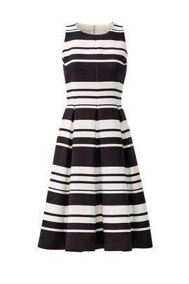 Black and White Cape Stripe Dress by kate spade new york