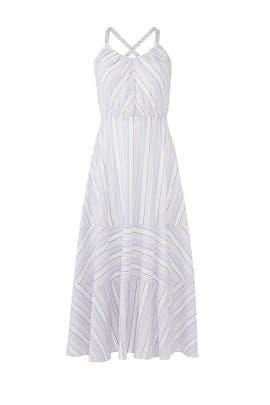 Leila Stripe Midi Dress by La Vie Rebecca Taylor