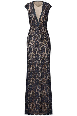 Navy Romantic Ride Gown by LM Collection