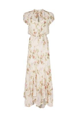 Floral Tie Neck Maxi by Polo Ralph Lauren