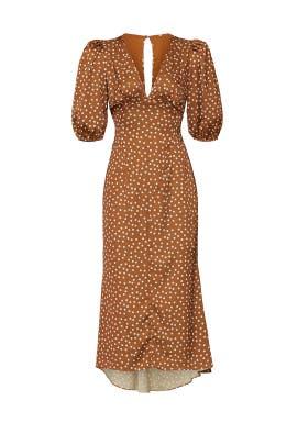 Polka Dot Callie Midi Dress by Ronny Kobo