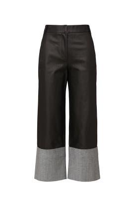 Cuffed Denim Pants by Tibi