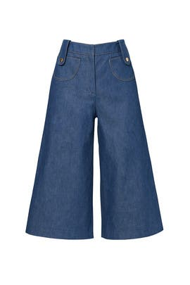 Denim Culottes by DEREK LAM