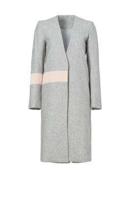 Grey Wool Abstract Coat by ELLIATT