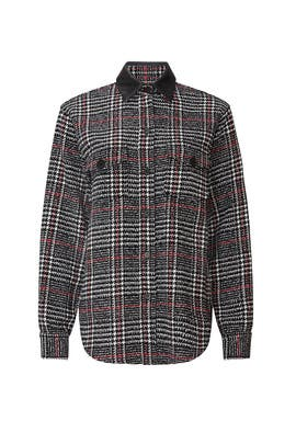 Plaid Leather Detail Shirt by Fifteen Twenty