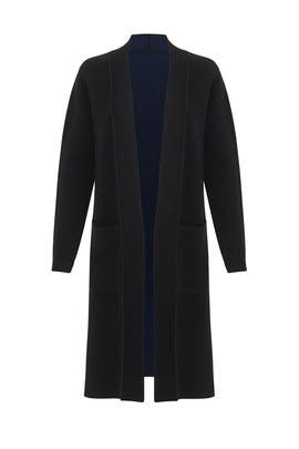 Black Knit Duster by BROWN ALLAN