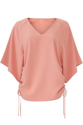 Shirred Side Tie Top by Fifteen Twenty