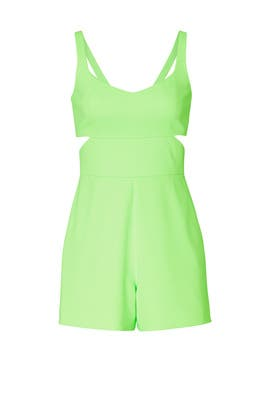 Green Amelia Romper by Jay Godfrey