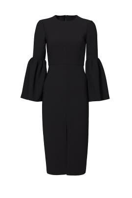 Black Cropped Bell Sleeve Dress by Jill Jill Stuart