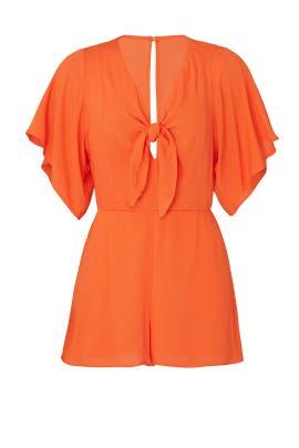 Tangerine Tie Romper by Louna