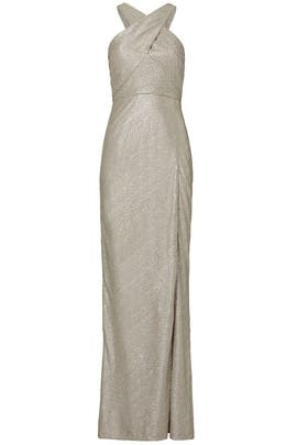 Metallic Cross Knit Gown by Laundry by Shelli Segal