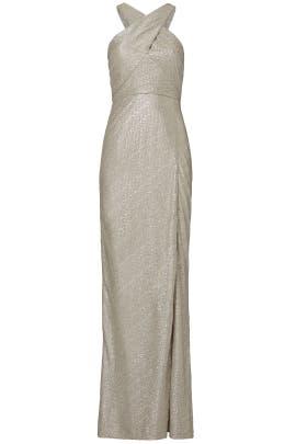 Metallic Cross Knit Gown by Laundry by Shelli Segal