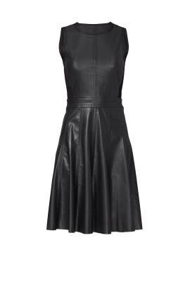 Black Vegan Leather Dress by Rebecca Taylor