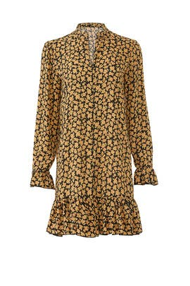 Yellow Floral Printed Dress by Scotch & Soda