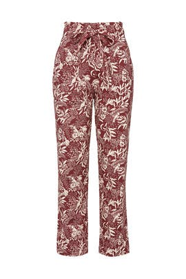 Floral Wide Leg Trousers by Scotch & Soda
