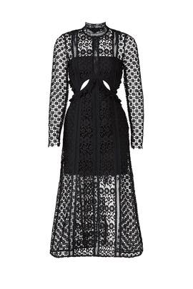 Lace Illusion Midi Dress by Self-portrait