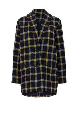Plaid Cocoon Coat by Derek Lam 10 Crosby