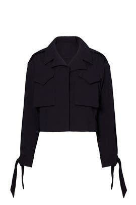 Cropped Utility Jacket by Milly