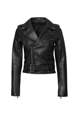 Black Cooper Leather Jacket by Parker