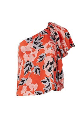 Rose Print Livia Top by Cooper & Ella