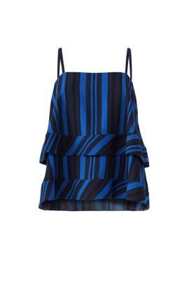Blue Stripe Lila Tier Top by Cooper & Ella
