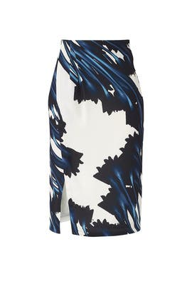 Crocus Pencil Skirt by HALSTON