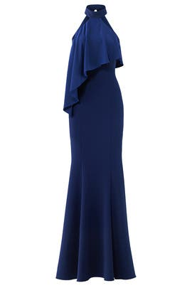 Navy Franklin Gown by Jay Godfrey