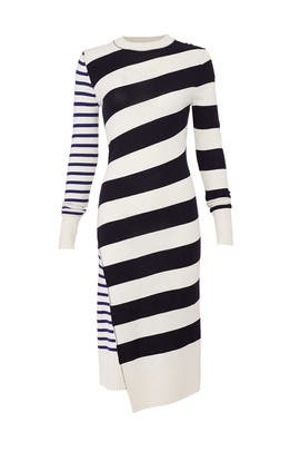 Queen Wool Stripe Dress by Jason Wu