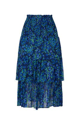 Floral Tiered Skirt by The Kooples