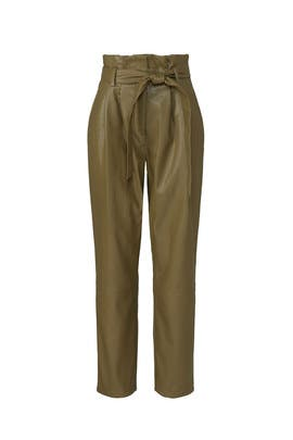 Olive Faux Leather Pants by Love, Whit by Whitney Port