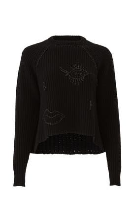 Embroidered Face Sweater by (nude)