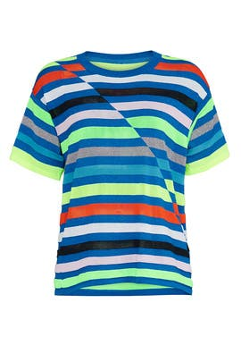 Striped Boyfriend Tee by Replica Los Angeles