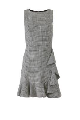 Plaid Ruffle Hem Dress by Slate & Willow