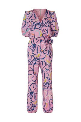 Pink Floral Jumpsuit by Tanya Taylor
