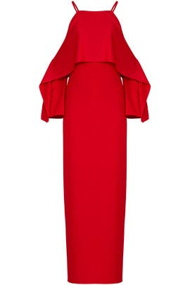 Red Mia Gown by Trina Turk