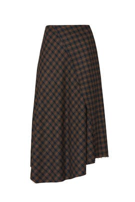 Check Plaid Skirt by VINCE.