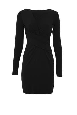 Black Clandestine Draped Dress by Bailey 44