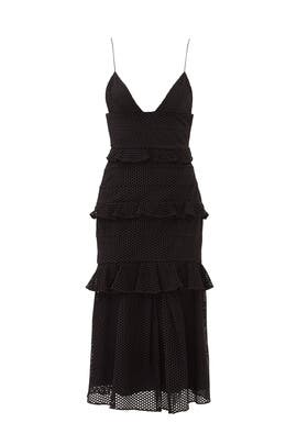 Black Eyelet Sofia Dress by Cushnie