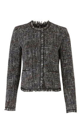 Tati Tweed Fringe Jacket by Greylin