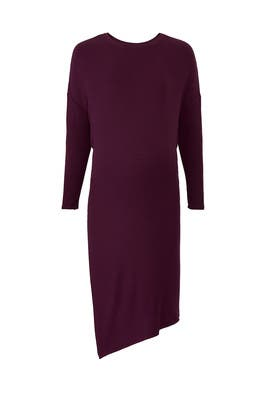 Plum Circle Tee Maternity Dress by Ingrid & Isabel