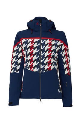 Houndstooth Mountain Mission Ski Jacket by Perfect Moment