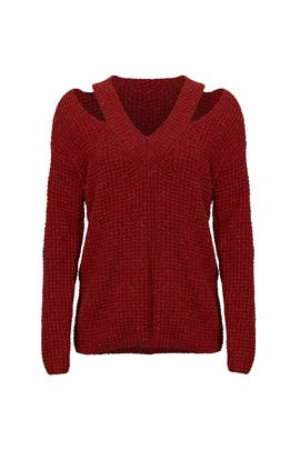 Red Draco Sweater by Rebecca Minkoff