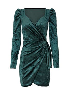 Velvet Drape Dress by Saylor