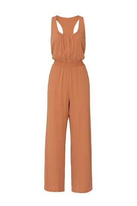 Tan Wide Leg Jumpsuit by The Odells