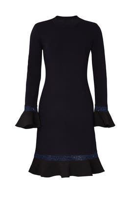 Navy Lace Trim Dress by Tory Burch