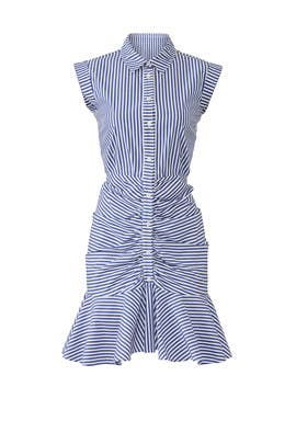 Bell Button Down Ruched Shirtdress by Veronica Beard