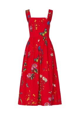 Scarlet Day Dress by Oscar de la Renta