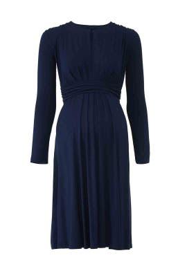 Navy Cornelia Maternity Dress by Of Mercer