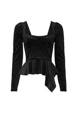 Black Elsa Peplum Top by Saylor