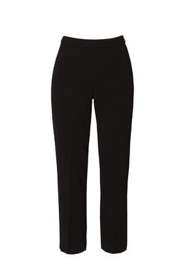 Black Basic Pull On Pants by Theory